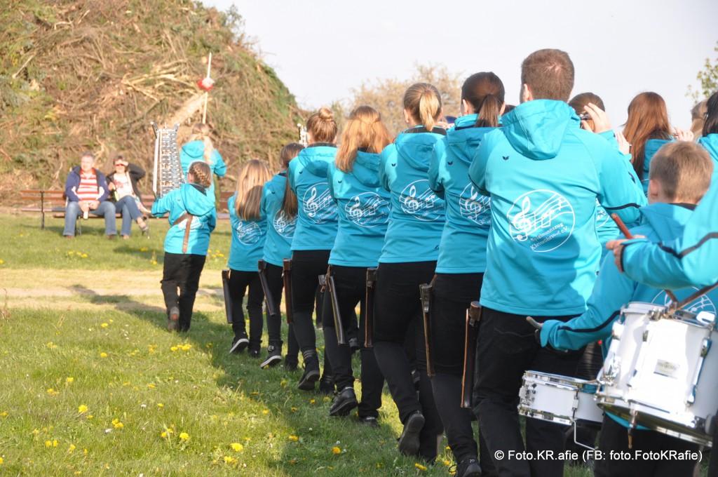 Spielmannszug Kleinröhrsdorf in den neuen blauen Jacken